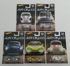 Hot Wheels Air Cooled Car Culture Set Volkswagen Porsche Fiat Racing Real Riders