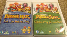 JIM HENSON'S FRAGGLE ROCK DVDS - LET THE  MUSIC PLAY AND SHAKE FRAGGLE & ROLL-UK