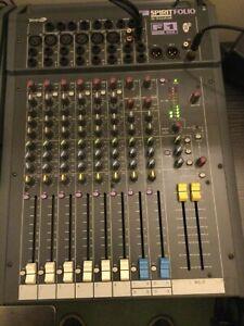 Soundcraft Spirit Folio - F1 - 14/2 Sound Mixer - inc. RACK MOUNTING BRACKETS