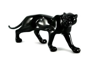Brillibrum Design Figura Puma Di Poliresina Statua Nero Panther Decorativa