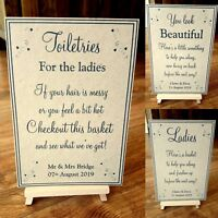 ** A3/A4/A5 Vintage brown Toiletries Wedding Sign - 3 Designs Available**
