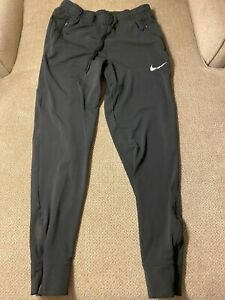 Mens Nike Joggers Slim Tapered Fitted Pants Zipper Pockets Small S