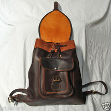 Traditional Leather Backpack. Made in Spain
