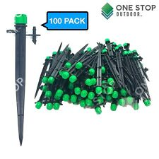 100 pcs/set Micro Bubbler Drip Irrigation Adjustable Emitter Stake Water Dripper