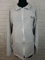 Exist Sports Line Womens XL Grey Zip Up Newport Beach California Jacket Fleece
