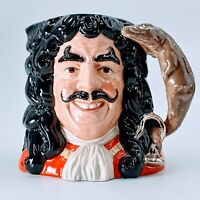 """Royal DoultonD6947 Captain Hook1994Large - 7.5""""Toby Jug. Pre-owned. RD6-10"""