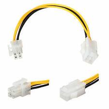 4 pin P4 ATX 12v Male to Female Extension CPU Power Supply Cable 18cm