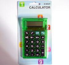 Calculatrice de bureau/de poche SIA vert - Calculator for pocket & desktop,green