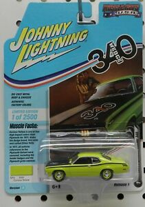 1971 DUSTER 340 CURIOUS YELLOW WEDGE 71 MOPAR PLYMOUTH JL JOHNNY LIGHTNING