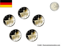5 Ateliers 2 Euros Commémorative Allemagne 2018 Lander UNC