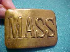 M-1881 Era Massachusetts National Guard Belt Plate Buckle Brass Real