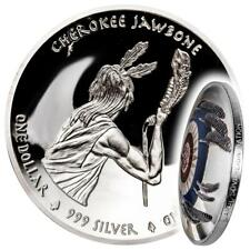 USA 1 Dollar 2018 Cherokee Jawbone - Native American Weapons (2.) Oz Silber PP