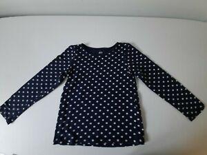 T-Shirt manches longues H&M 3-4 ans Bleu/Blanc