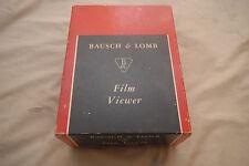 Vintage Bausch & Lomb Film Viewer -RARE