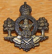 238th Battalion CEF Canadian FORRESTRY Battalion WW1 Bronze Collar Badge