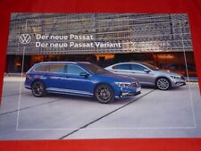 VW Passat B8 3G Limousine Variant Busines Elegance R-Line Prospekt Brochure 2019