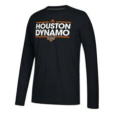 Houston Dynamo MLS Adidas Black Dassler Climalite Long Sleeve T-Shirt