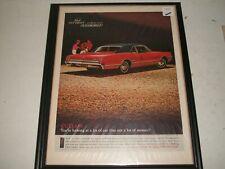 1966 OLDSMOBILE CUTLASS ORIGINAL PRINT AD GARAGE ART COLLECTIBLE