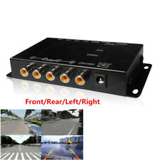 Car 4-Way Video Switch Camera 4 View Image Split-Screen Combiner Box Kit Superb