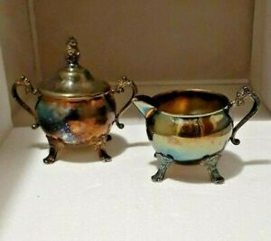 Vintage 1960s Silver Plated Eloquence Sugar Bowl & Creamer EP. AI Quality