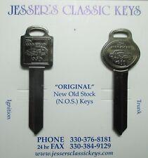 Ford THUNDERBIRD Keys OEM Black Chrome NOS 35th Anniversary 1990