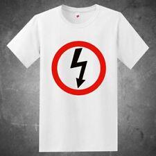 New Marilyn Manson Rock Band Thunder Logo Men'S White Shirt Usa Size S-Xxxl