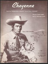 Cheyenne Clint Walker 1956 TV Series Sheet Music