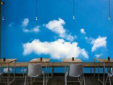 3D Blue Sky White Cloud Landscape Self-adhesive Bedroom Wall Murals Wallpaper
