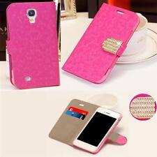 Lady Book Tasche Bling Diamant Strass Hülle Case Cover für Apple iPhone 5S PINK