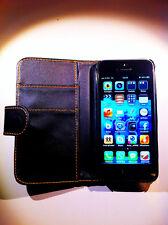 cover custodia per Apple iPhone 5 colore nero  new 3 scomparti portadocumenti
