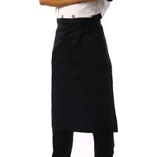 Nanxson 3pcs Men's Chef Black Unisex Half Long Solid Color Bistro Apron Al8024-