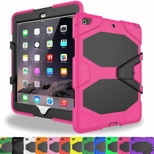 For iPad 2 3 4 Air Mini Pro Tough Rubber Heavy Shockproof Hard Case Cover