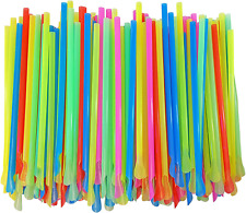 Sno Cone Spoon Straws 400 Mixed Neon