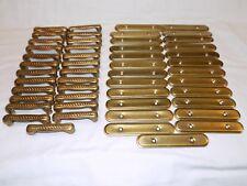 25 Solid Brass Cabinet Pulls Door Handles Drawer Backplates Vintage Hardware set