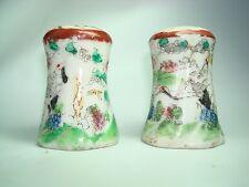 1920s Salt and Pepper Shakers Porcelain Japanese Flying Crane
