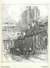 GASANSTALSTHOF - Leonard SANDROCK - 1915 - Strichätzung HEYDER Verlag BERLIN
