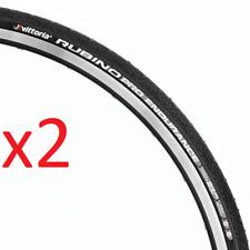 2x (Pair) Vittoria Rubino Pro G+ Endurance Road Tyre Graphene 700x23 BLACK