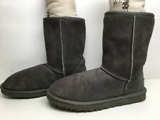 *5 WOMENS INSPIRED  WINTER SUEDE GRAY BOOTS SIZE 9