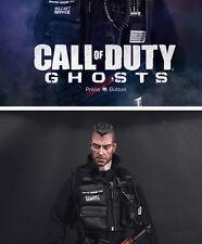 1/6 Male Head Soap John MacTavish Head Carving Call of Duty Ghost F 12'' Body