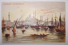 Ottoman Turkey Constantinople Stamboul Istanbul Mosque Fisher Ship Postcard