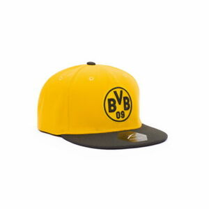 BORUSSIA DORTMUND YELLOW FLAT PEAK BASEBALL HAT SNAPBACK Fi COLLECTION OFFICIAL