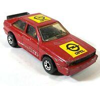 Matchbox Audi Quattro Opel Red 1:58 1982 Vintage Diecast Macau D186