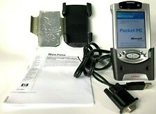 Vintage Ipaq Pocket Pc Compaq H3955 Windows Mobile Pda With Stylus Case Charger