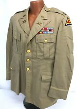 Vintage Us 7th Army 2nd Infantry Division Officers Khaki Jacket