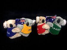 24  Australian Souvenir Koala With Australian Flag Koalas Clip On 6.5cm New BULK