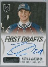 2013 14 Panini Playbook First Draft Autograph Rookie Nathan Mackinnon Avalanche