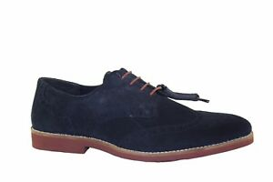 RedTape Brickhill Tan/Navy leather suede laced brogue shoe Formal Smart Office