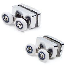 Set of 2 Shower Door Top and Bottom Rollers/ Runners 23mm diameter wheels F23