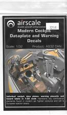 Airscale Modern Cockpit Dataplate and Warning Decals 1/32 14  ST