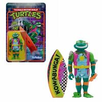 "Super 7 TMNT Sewer Surfer Michelangelo ReAction figure 3.75"" CASE FRESH cond."